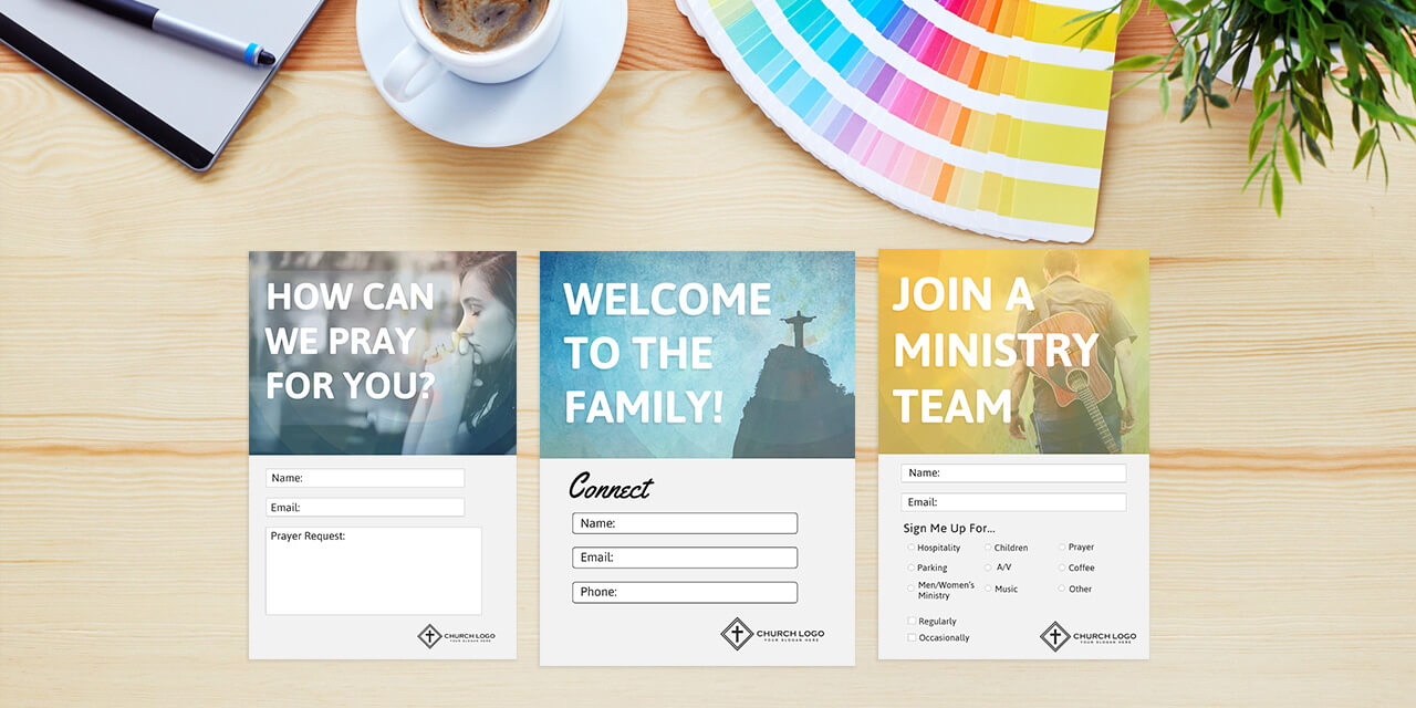Free Church Connection Cards - Beautiful Psd Templates In Decision Card Template