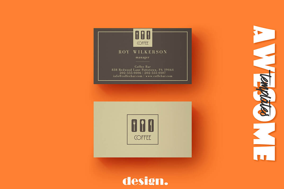 Free Coffee Business Card Template - Creativetacos With Coffee Business Card Template Free