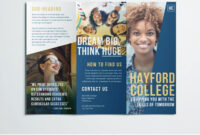 Free College Brochure Template | Simple Tri-Fold Design throughout Tri Fold Brochure Template Indesign Free Download