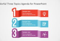 Free Colorful Three Topics Agenda For Powerpoint in Replace Powerpoint Template