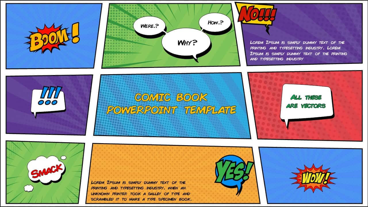 Free Comic Book Powerpoint Template For Download | Slidebazaar Inside Powerpoint Comic Template