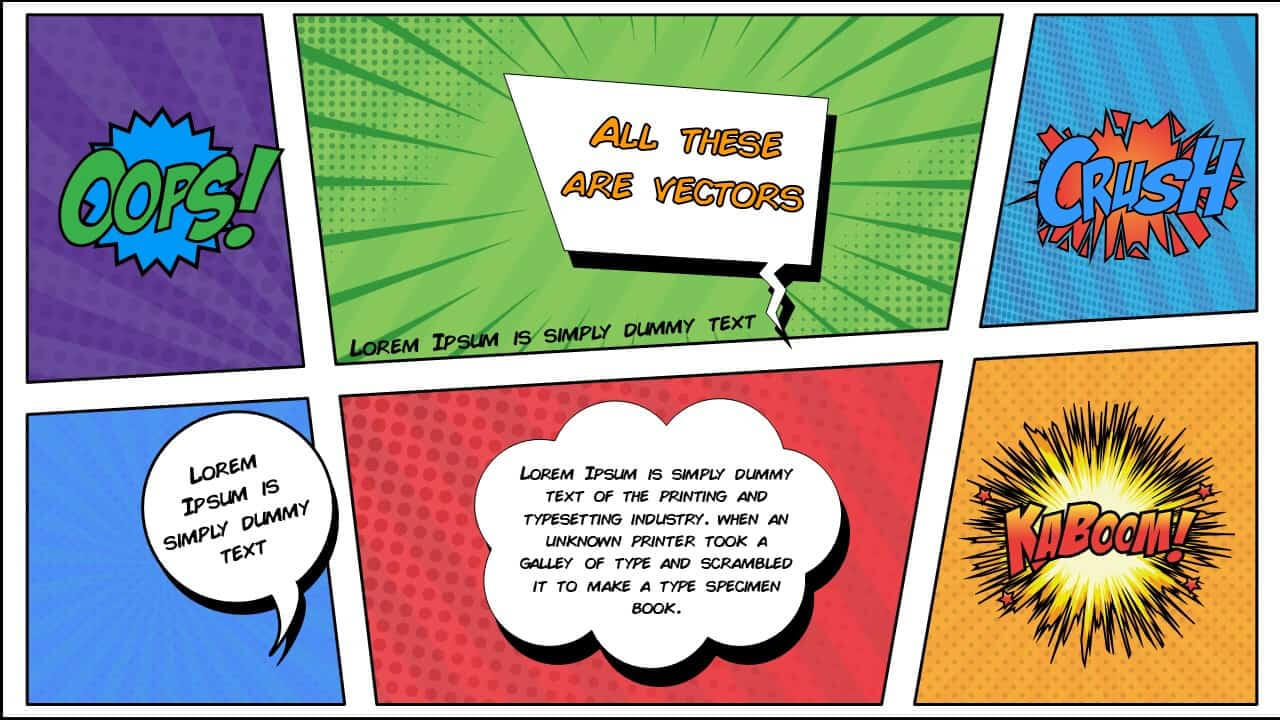 Free Comic Book Powerpoint Template For Download | Slidebazaar With Powerpoint Comic Template