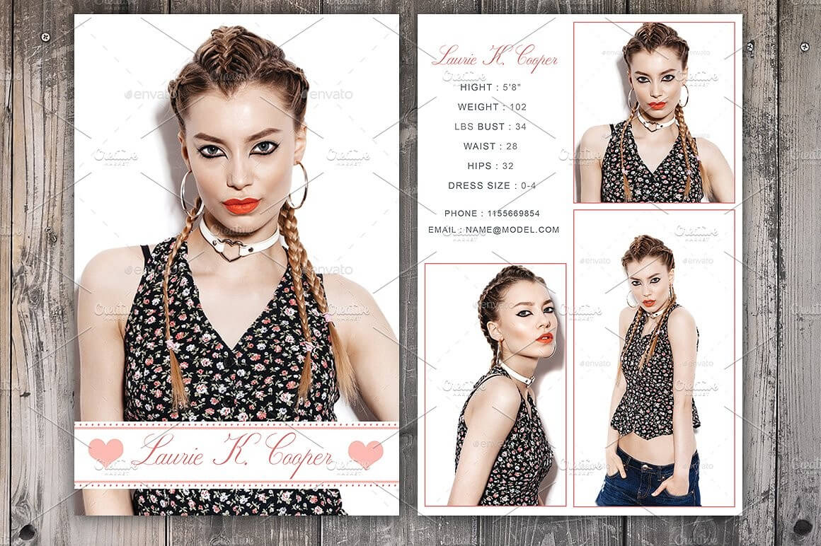 Free Comp Card Templates For Actor Model Headshots Inside Free Comp Card Template