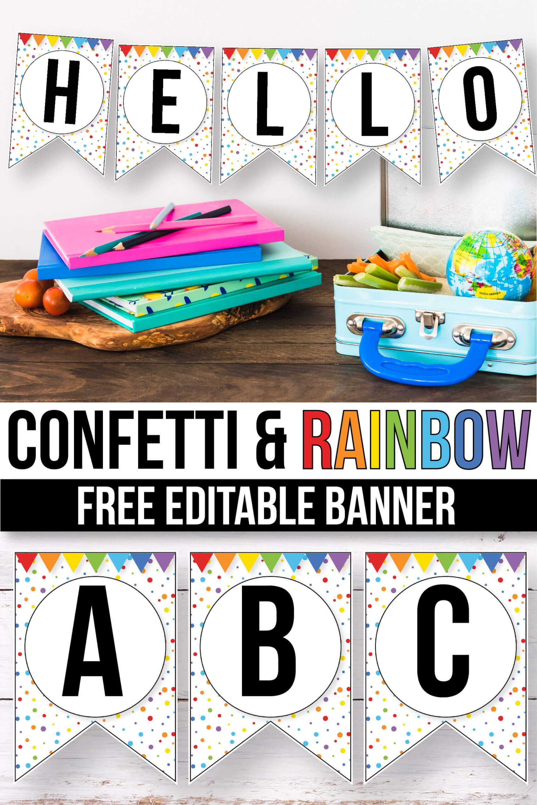 Free Confetti Banner For The Classroom - Confetti Classroom Intended For Classroom Banner Template