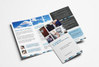 Free Corporate Trifold Brochure Template In Psd, Ai & Vector throughout 2 Fold Brochure Template Free