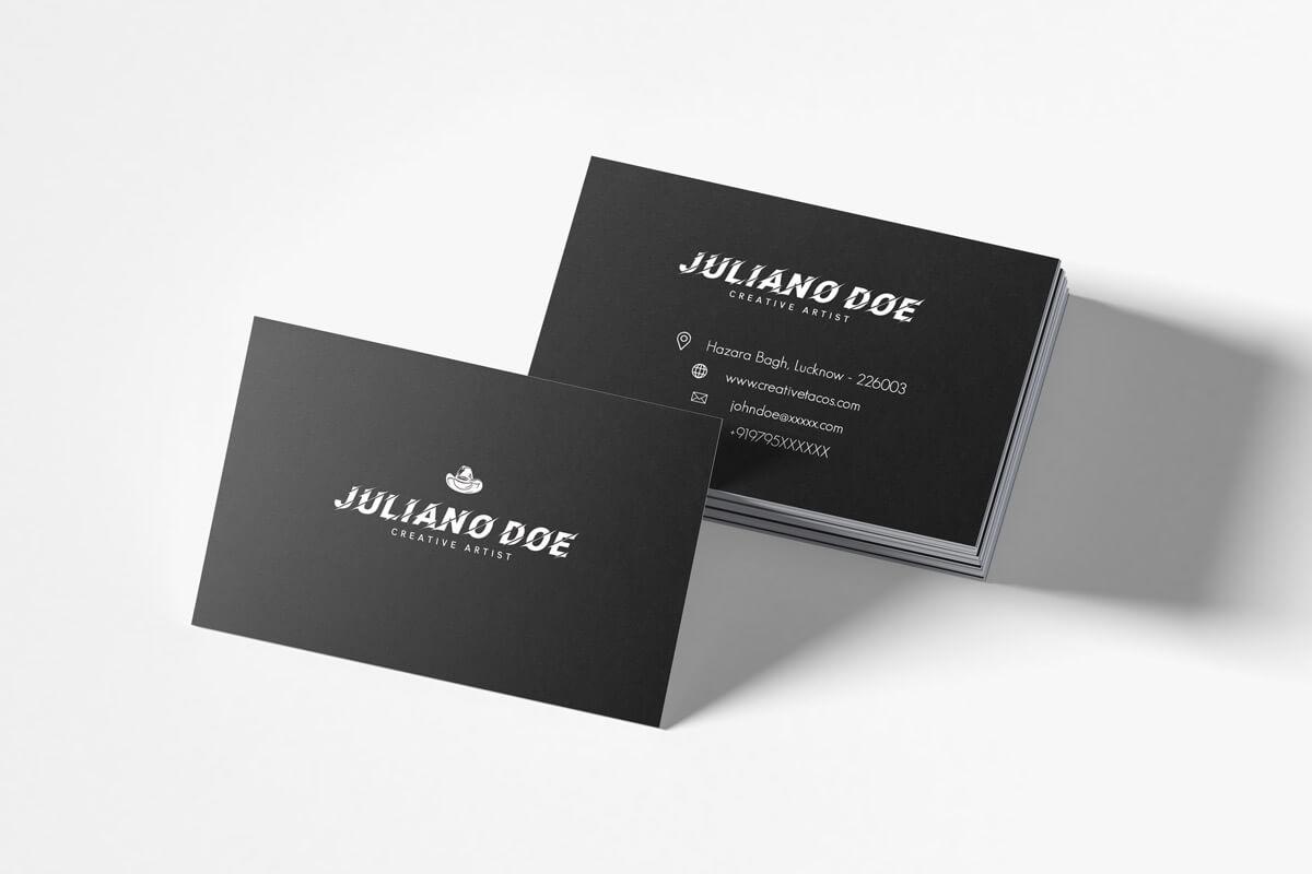 Free Creative Business Card Template – Creativetacos For Unique Business Card Templates Free