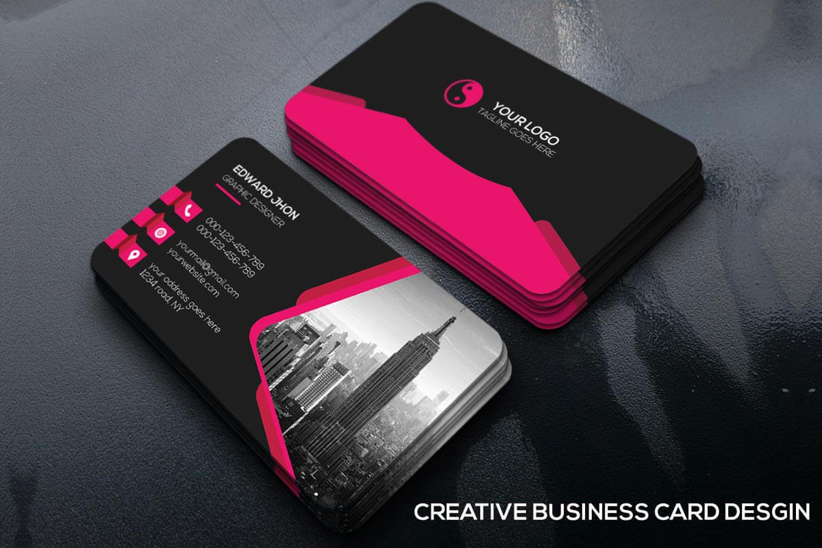 Free Creative Business Card Template - Creativetacos Throughout Creative Business Card Templates Psd