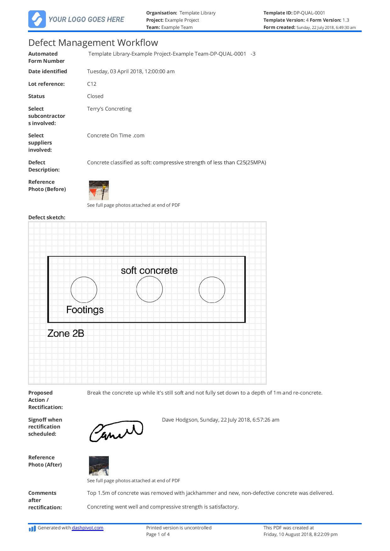 Free Defect Report Template (Better Than Word Doc And Excel) Throughout Building Defect Report Template