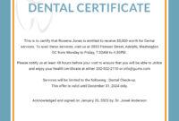 Free Dental Medical Certificate Sample | Free Dental with regard to Fake Medical Certificate Template Download