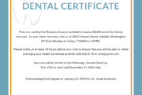 Free Dental Medical Certificate Sample | Free Dental with regard to Free Fake Medical Certificate Template