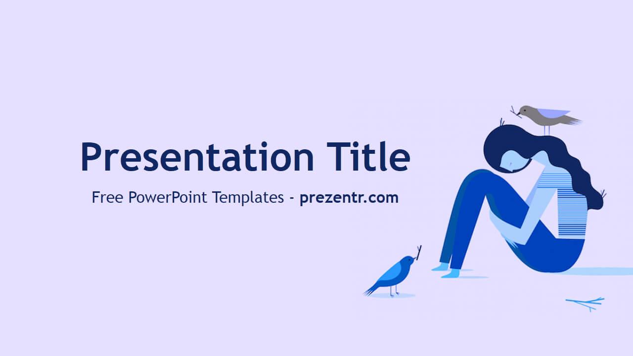 Free Depression Powerpoint Template - Prezentr Powerpoint Regarding Depression Powerpoint Template