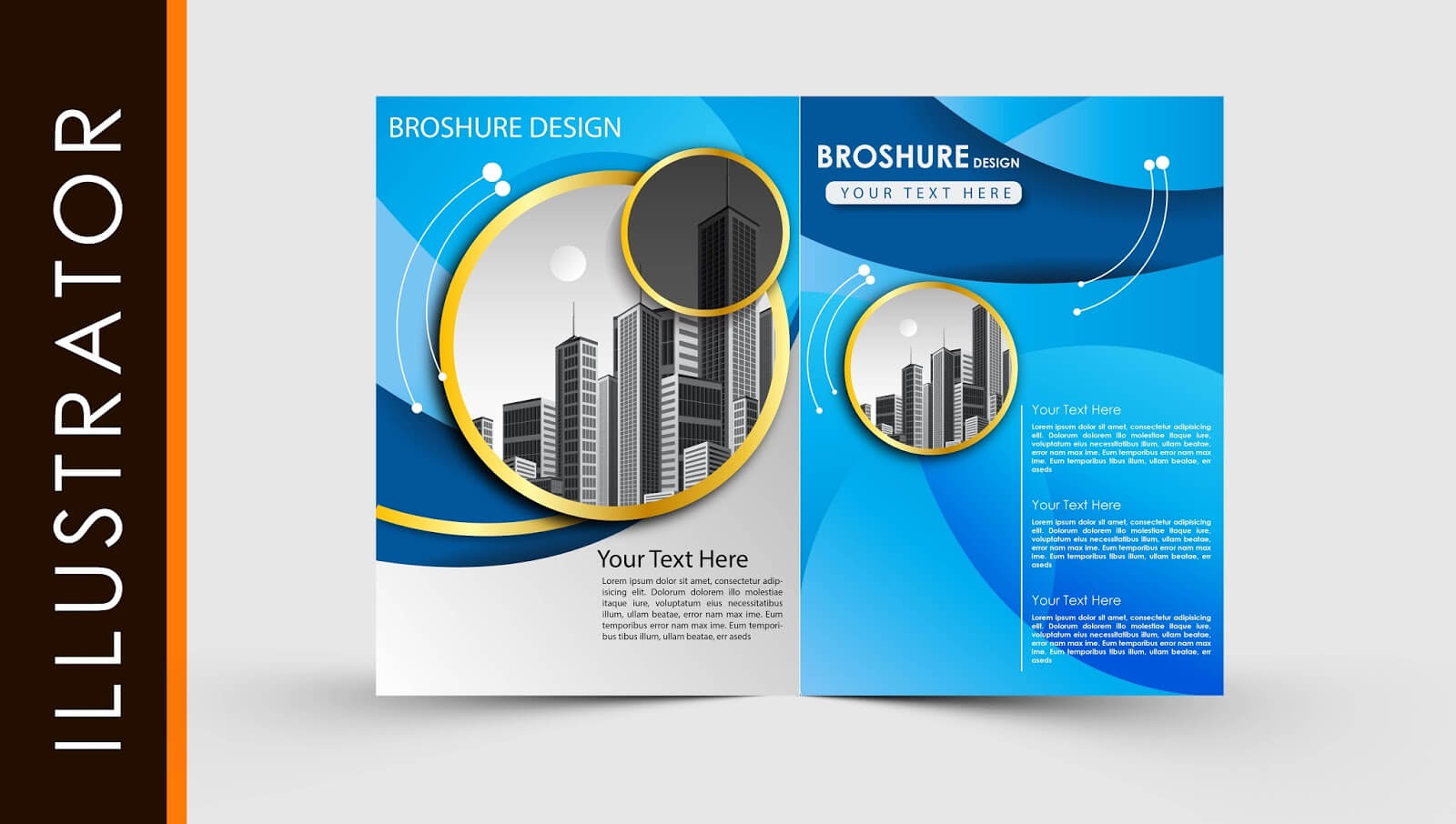 Free Download Adobe Illustrator Template Brochure Two Fold For Ai Brochure Templates Free Download