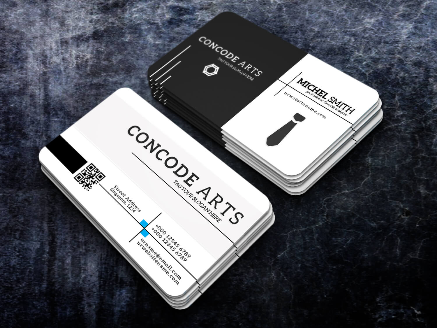 Free Download Black And White Colour Cool Professional Pertaining To Professional Business Card Templates Free Download