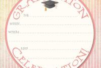 Free Download Invite Template Unique 40 Free Graduation intended for Graduation Invitation Templates Microsoft Word