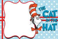Free Dr.seuss Invitation Templates – Printable – Bagvania with regard to Dr Seuss Birthday Card Template