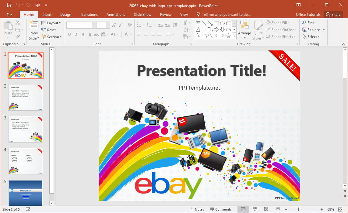 Free Ebay Powerpoint Template With How To Design A Powerpoint Template