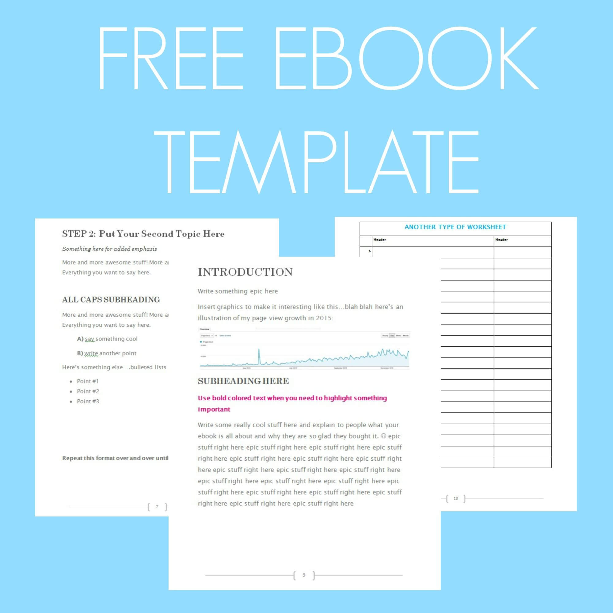 Free Ebook Template – Preformatted Word Document | Free Inside Microsoft Word Table Of Contents Template