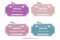 Free Editable Love Coupons For Him Or Her in Love Coupon Template For Word