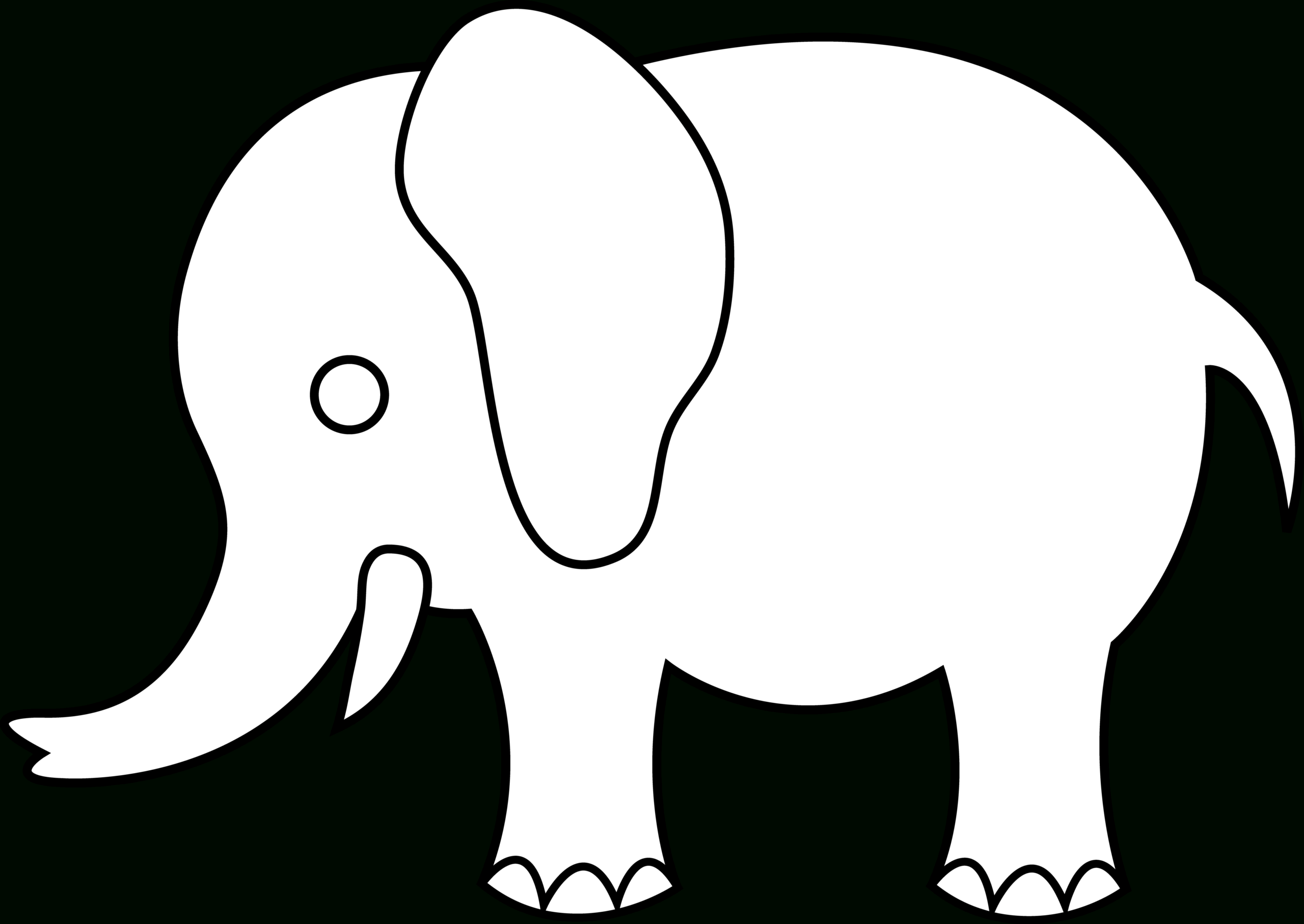 Free Elephant Outline Cliparts, Download Free Clip Art, Free Intended For Blank Elephant Template