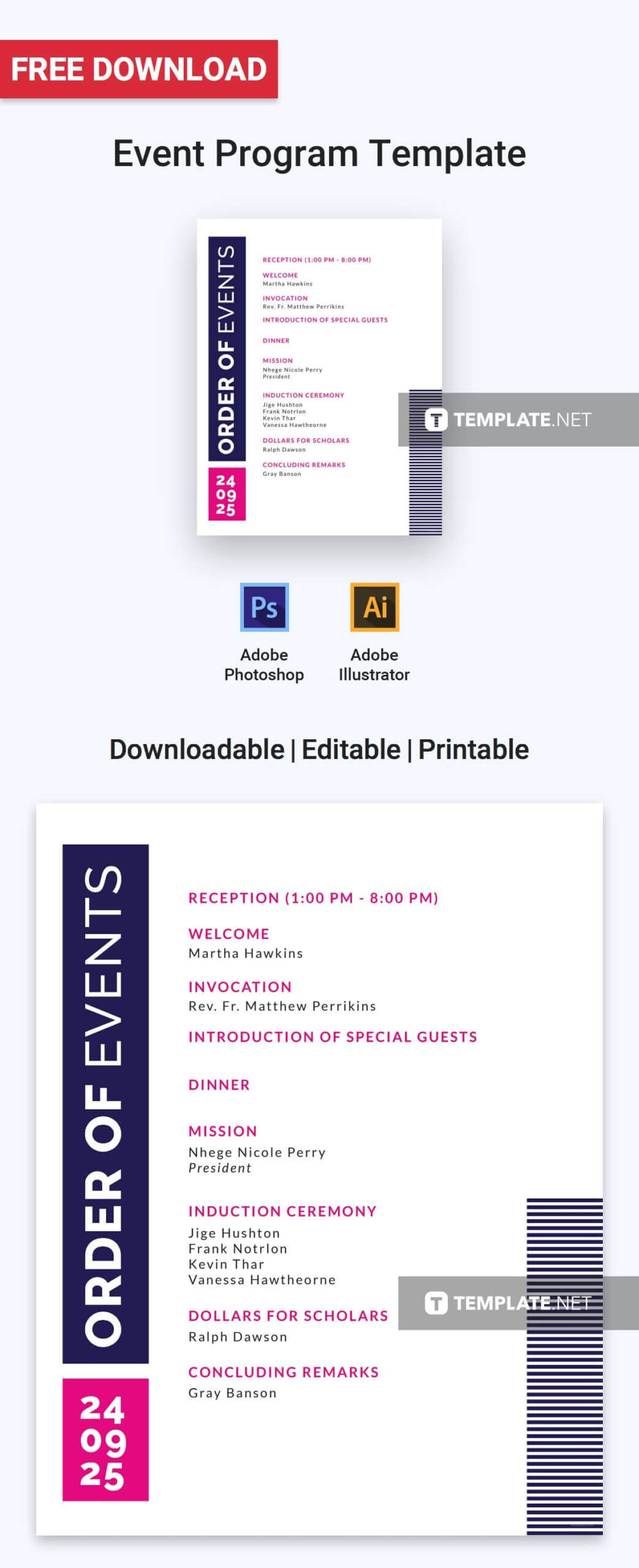 Free Event Program Invitation | Program Template, Event Pertaining To Free Event Program Templates Word