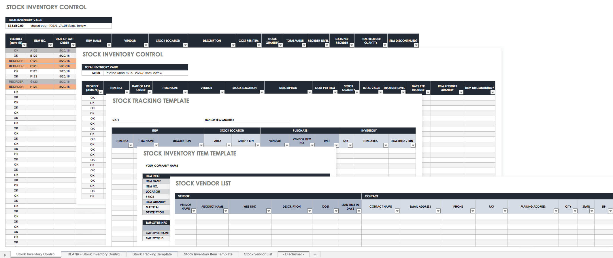 Free Excel Inventory Templates: Create & Manage | Smartsheet Intended For Stock Report Template Excel