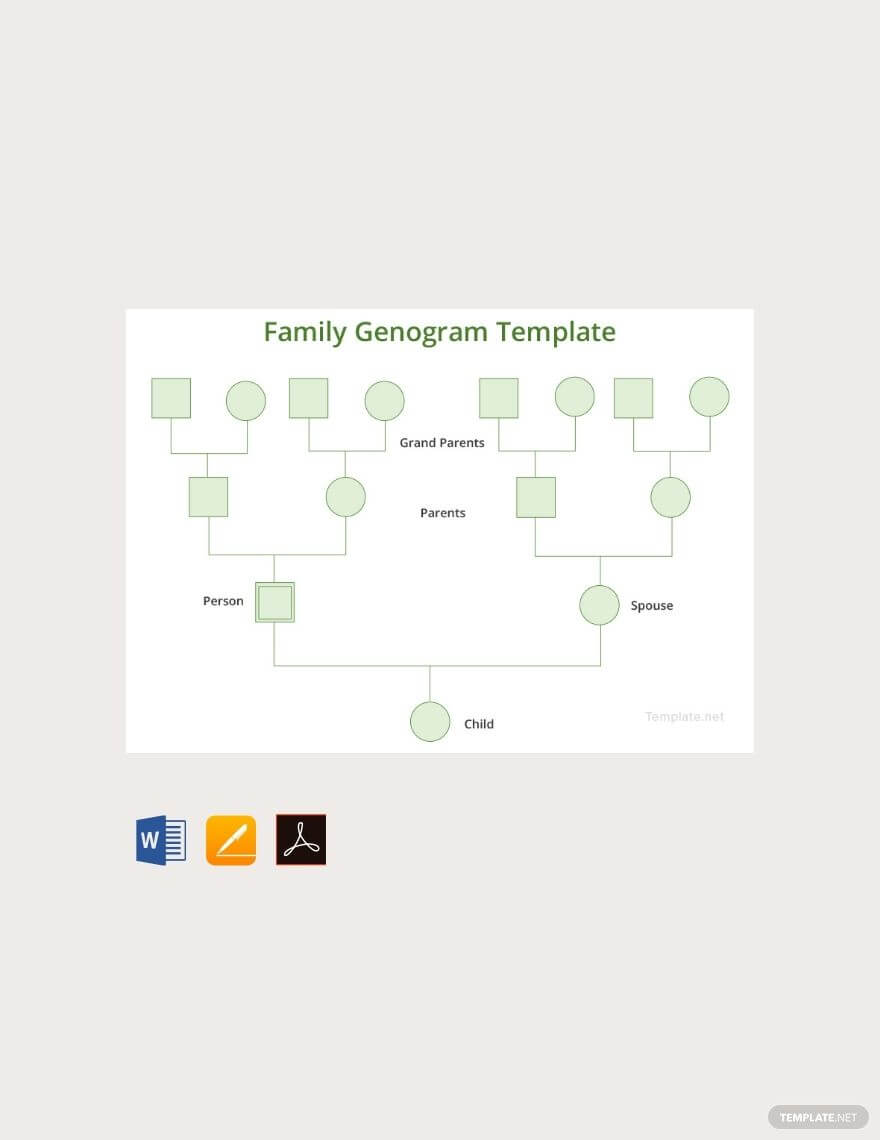 Free Family Genogram | Family Genogram, Genogram Template Intended For Genogram Template For Word