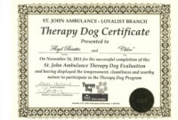 Free Free Service Dog Certification Download Exclusive Dog inside Service Dog Certificate Template