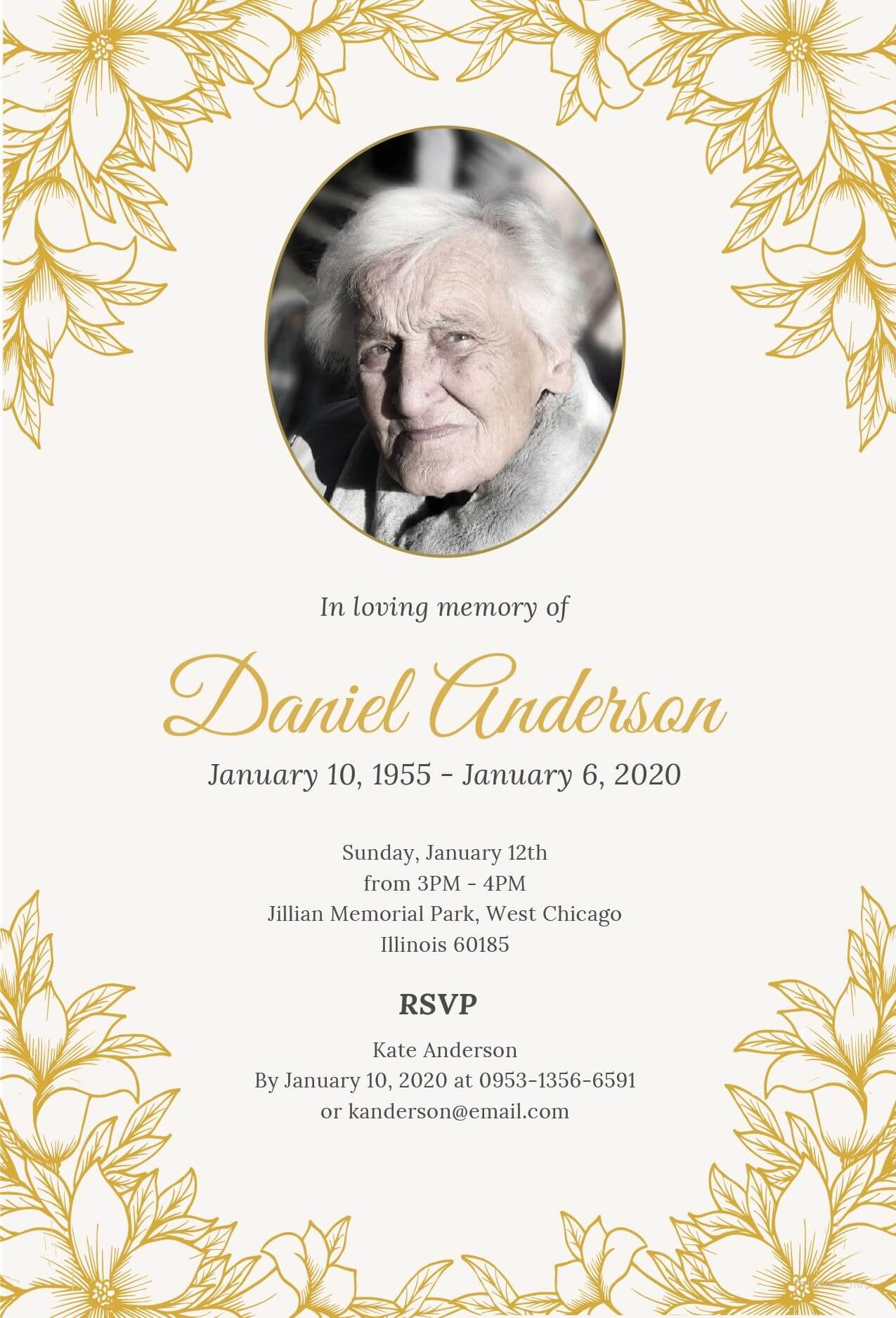 Free Funeral Ceremony Invitation | Funeral Invitation Intended For Funeral Invitation Card Template