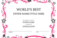 Free Funny Award Certificates Templates | Worlds Best Custom within Fun Certificate Templates