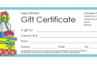 Free Gift Certificate Templates You Can Customize for Kids Gift Certificate Template