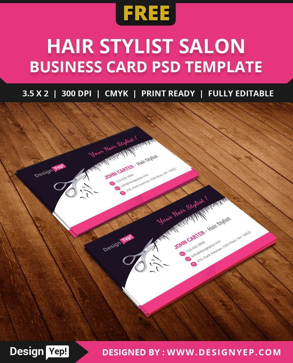 Free Hair Stylist Salon Business Card Template Psd | Salon Within Hairdresser Business Card Templates Free