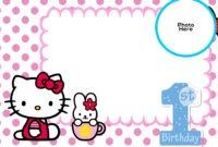Free Hello Kitty 1St Birthday Invitation Template | Free for Hello Kitty Birthday Card Template Free