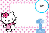 Free Hello Kitty 1St Birthday Invitation Template | Hello inside Hello Kitty Banner Template