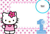 Free Hello Kitty 1St Birthday Invitation Template | Hello with Hello Kitty Banner Template