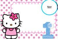Free Hello Kitty 1St Birthday Invitation Template | Hello within Hello Kitty Birthday Card Template Free