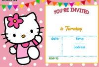 Free Hello Kitty Invitation Templates | Hello Kitty Birthday with Hello Kitty Birthday Card Template Free