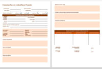 Free Incident Report Templates & Forms | Smartsheet throughout Serious Incident Report Template