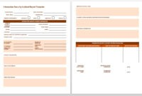 Free Incident Report Templates & Forms | Smartsheet with Car Damage Report Template