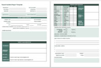 Free Incident Report Templates & Forms | Smartsheet with Vehicle Accident Report Template