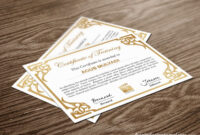 Free Indesign Certificate Template #1 | Free Indesign Within Indesign Certificate Template