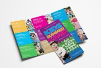 Free Kid's Camp Flyer & Brochure Template In Psd, Ai inside Summer Camp Brochure Template Free Download