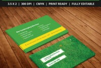 Free-Landscaping-Business-Card-Template-Psd | Free Business regarding Lawn Care Business Cards Templates Free