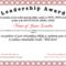 Free Leadership Award At Clevercertificates | Leadership Regarding Leadership Award Certificate Template