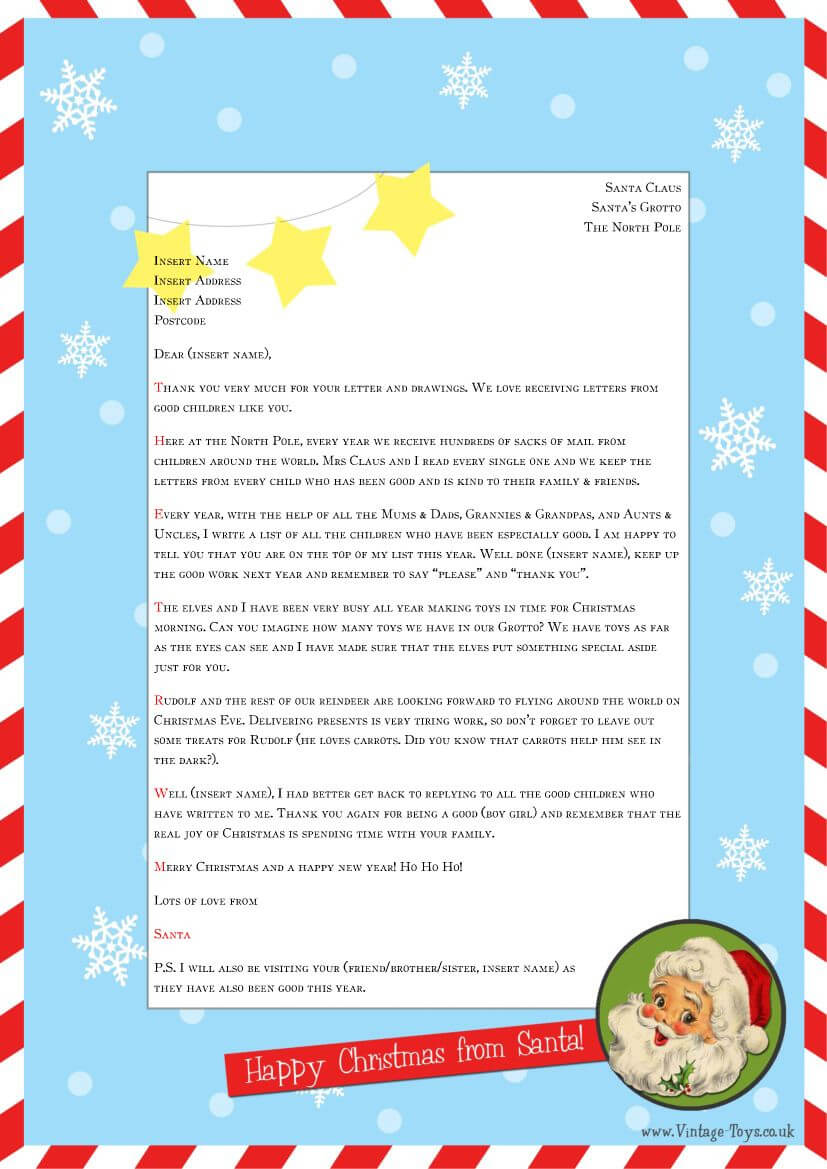 """Free """"Letter From Santa"""" Template For You To Download And With Regard To Santa Letter Template Word"""