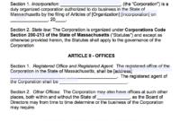 Free Massachusetts Corporate Bylaws Template | Pdf | Word | throughout Corporate Bylaws Template Word