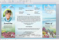 Free Memorial Cards Template Lovely Free Memorial with Memorial Cards For Funeral Template Free