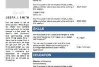 Free Microsoft Word Resume Template   Microsoft Word Resume For Resume Templates Word 2010