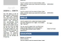 Free Microsoft Word Resume Template | Microsoft Word Resume Within Microsoft Word Resumes Templates