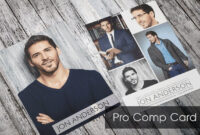 Free Model Comp Card Maker – Carlynstudio Regarding Free Comp Card Template