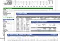 Free Money Management Template For Excel in Personal Check Template Word 2003